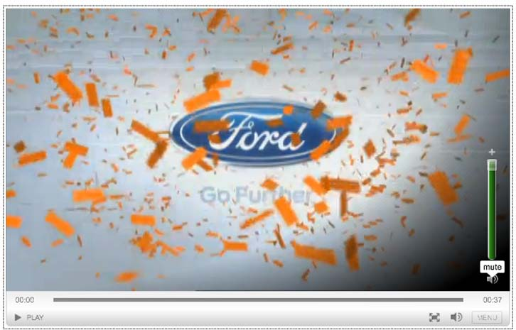 Ford web ad screenshot