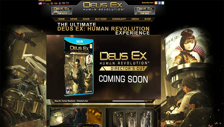 Deus Ex website