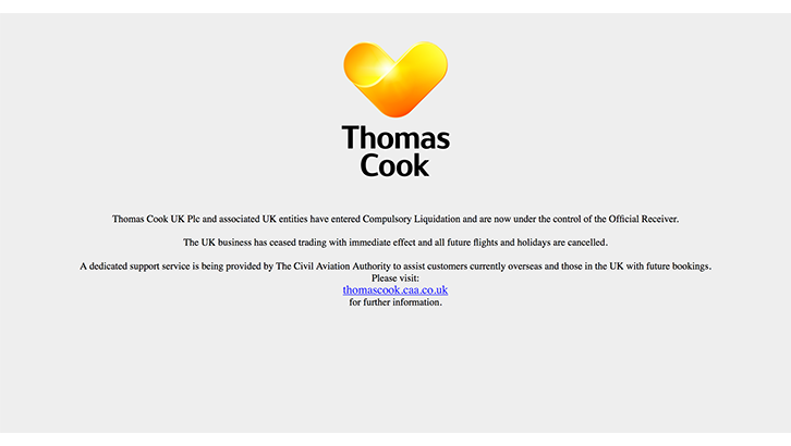 Thomas Cook website