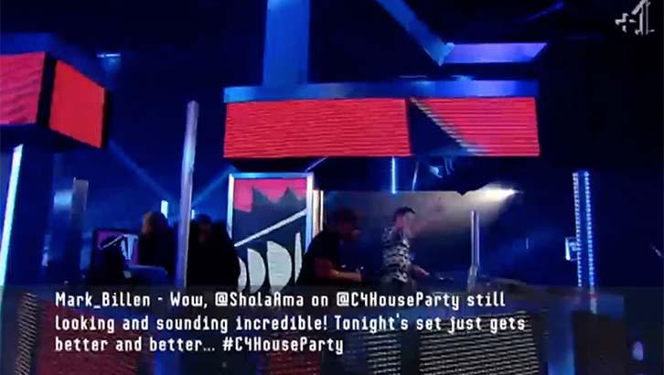 C4 House Party Tweet